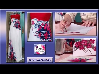 Vestido sublimado con diseño de amapolas