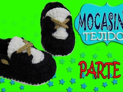 Zapatos mocasines clásicos tejidos a crochet  | parte 2.2