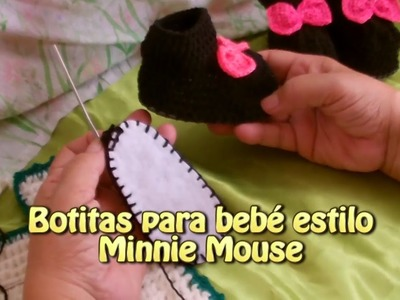 Botitas para bebe estilo minnie |Creaciones y manualidades angeles
