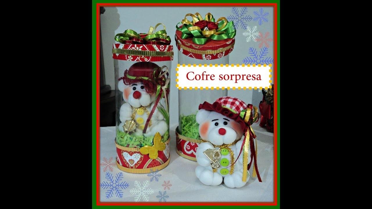 Cofre con tarro de gaseosa manualidades faciles navidad for Manualidades para navidad paso a paso