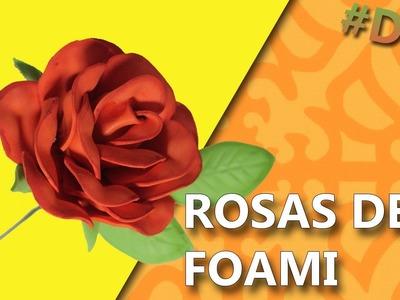 COMO HACER ROSAS DE FOAMI | Manualidades rosas de foami