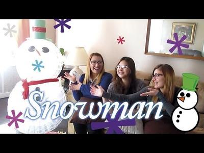DIY - Muñeco de nieve con vasos desechables | by 3 Chicas Latinas |