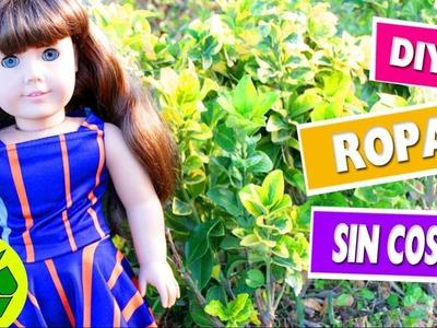 DIY | Ropa para muñecas AG: Falda y blusa sin coser en 1 minuto - manualidades para muñeca