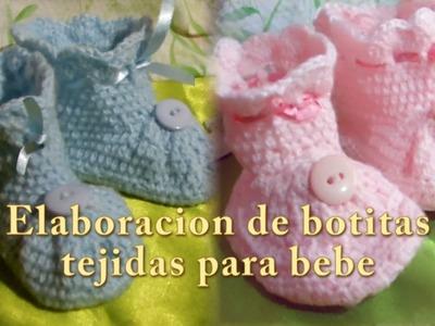 Elaboracion de botitas tejidas para bebé |Creaciones y manualidades angeles