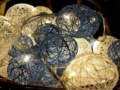 Esferas decorativas hechas con estambre