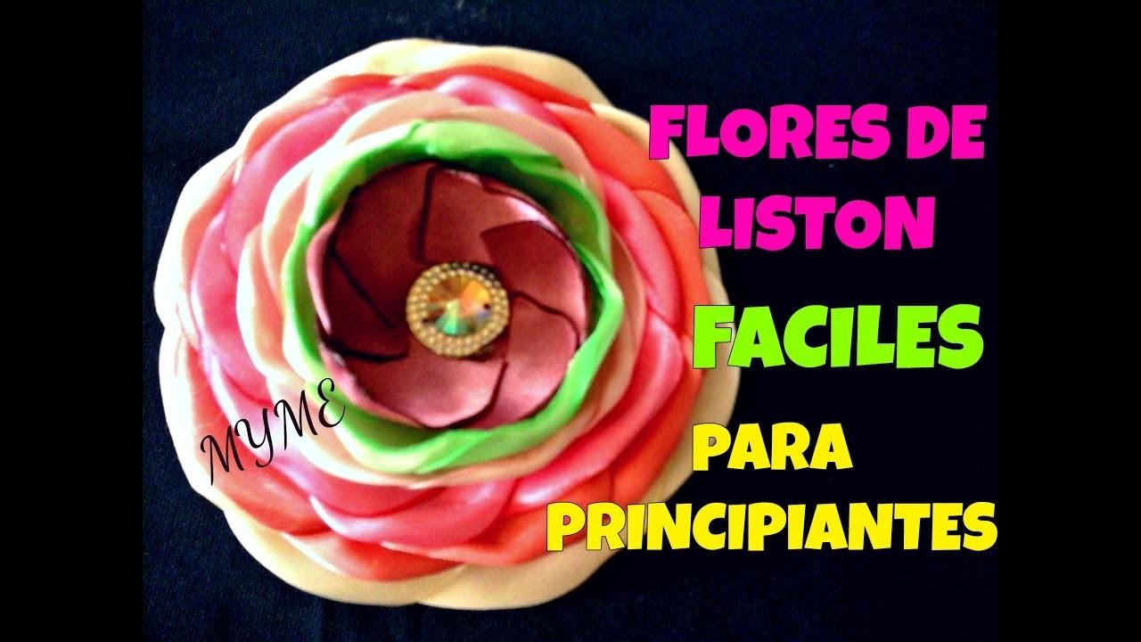FLOR DE LISTON BELLISIMA.PETALOS QUEMADOS.TUTORIAL.CREACTIVATE MANUALIDADES#215