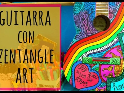 Guitarra con Zentangle Art ♡ Dani Hoyos