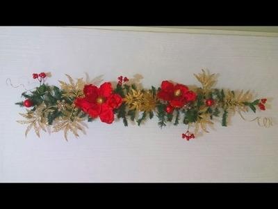 Haz una hermosa guía navideña para pared o puerta