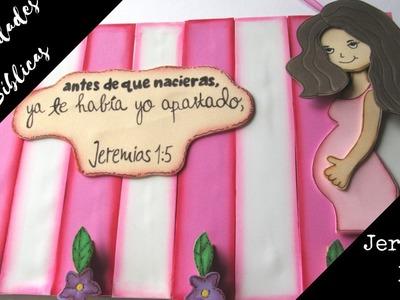 Manualidades Bíblicas -Jeremías 1:5 - Porta notas de fomi