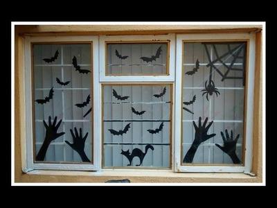 Manualidades para halloween: Adorno para ventana