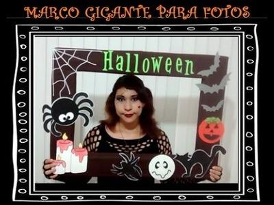 Manualidades para halloween: Marco gigante para fotos
