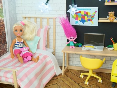Nueva Habitacion de Barbie hermanita Chelsea - Series de Barbie y Manualidades Para muñecas