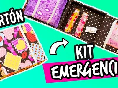 Organizador de Toallas Femeninas Portátil de Cartón | Cartonaje | Kit para esos días | Catwalk