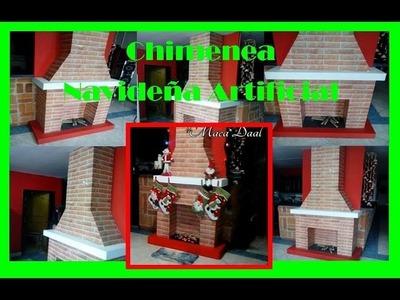 Pasos Para Hacer-Chimenea Navideña Decorativa Artificial