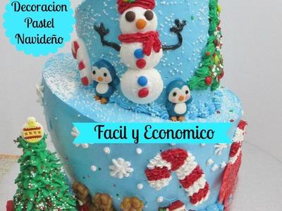 Pastel Navideño Fácil De Decorar y Económico - Madelin's Cakes
