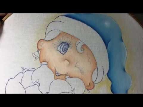 Pintura En Tela Niña Con Esferas # 1 Con Cony