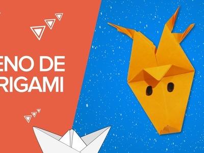 Reno de Navidad de origami | Manualidades infantiles de papel