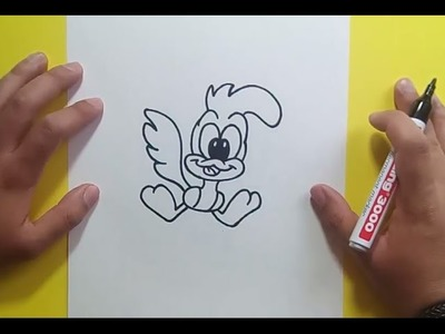Como dibujar a Correcaminos paso a paso 2 - Looney Tunes | How to draw Roadrunner 2 - Looney Tunes