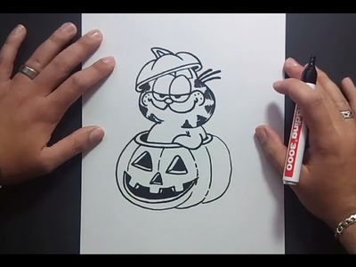 Como dibujar a Garfield paso a paso 2 - El show de garfield | How to draw Garfield 2
