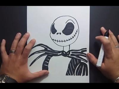 Como dibujar a Jack Skeleton paso a paso - Pesadilla antes de Navidad | How to draw Jack Skelington