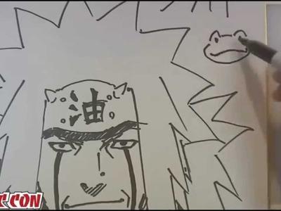 Como dibujar a Jiraiya por Masashi Kishimoto