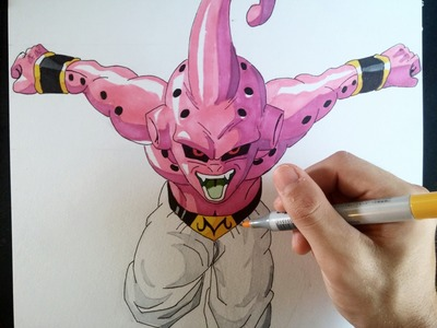Cómo dibujar a Kid Buu explicado paso a paso | How to draw Kid buu (English subt. CC)