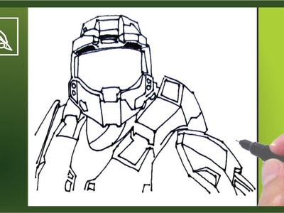 Cómo Dibujar a Master Chief Halo 5 - How To Draw Master Chief