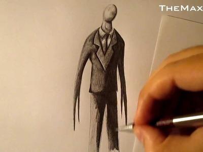 Cómo dibujar a Slenderman a lápiz paso a paso, how to draw Slenderman HD