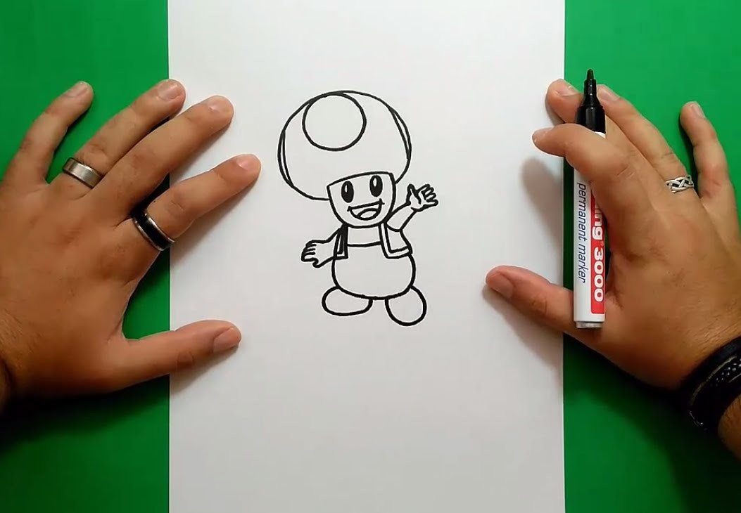 how to draw toad from mario
