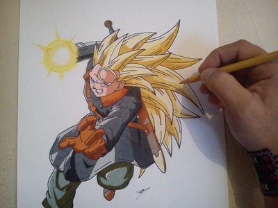 COMO DIBUJAR A TRUNKS DEL FUTURO SSJ 3. how to draw future trunks ssj3