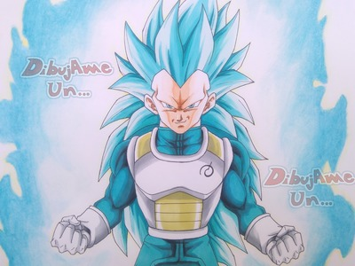 Como Dibujar a VEGETA SSJGSSJ Nivel 3. How To Draw VEGETA Super Saiyan Blue 3