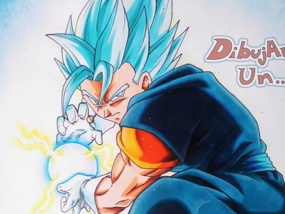 Como dibujar a VEGETTO  S Saiyan Blue Dragon Ball Super capitulo 66. how to draw VEGITO ssj blue