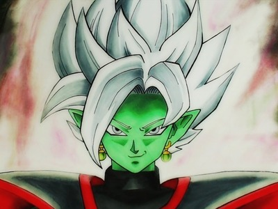 Cómo Dibujar a Zamasu.Blamasu (NUEVA FUSIÓN) | How to Draw Blamasu | Dragon Ball Super
