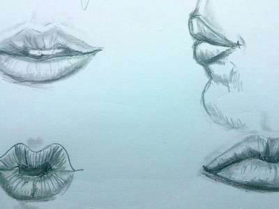 Como dibujar labios a lapiz, paso a paso: Como dibujar retratos