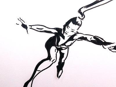 Como Dibujar Personas Paso a Paso: Acción, Escorzo, Cómo agarrar el lápiz
