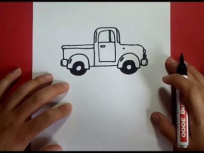 Como dibujar un coche paso a paso 2 | How to draw a car 2