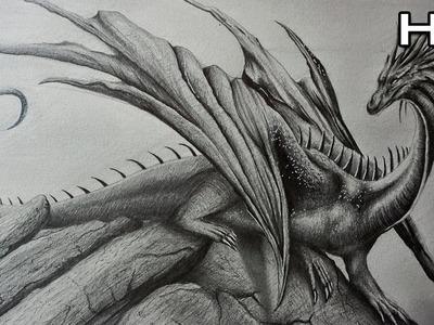 Cómo Dibujar un Dragón Realista a Lápiz Paso a Paso - TUTORIAL