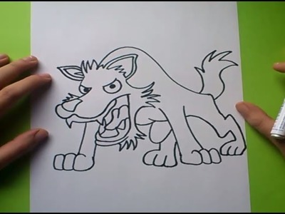 Como dibujar un lobo paso a paso 2 | How to draw a wolf 2