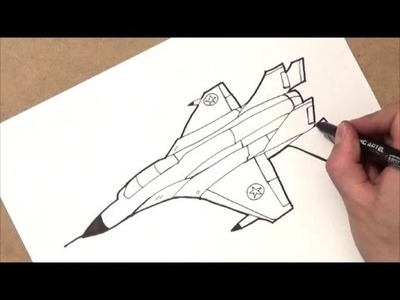 Como dibujar una avion | como dibujar un jet | paso a paso