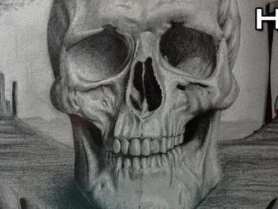 Cómo Dibujar una Calavera Realista a Lápiz Paso a Paso - Cráneo
