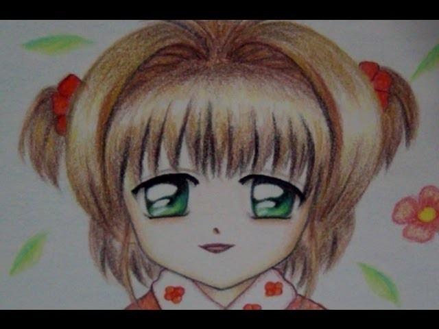 Cómo Dibujar Y Colorear Ojos Anime Sakura Con Colores Simples