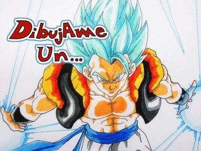 Dibujando a Gogeta Super Saiyajin dios Azul. How to draw Gogeta Super Saiyan god Super Saiyan blue.