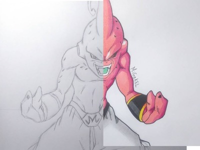 Speed drawing kid boo. Dibujando a kid boo. speed draw majin boo kid