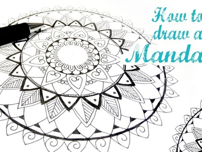TE ENSEÑO COMO DIBUJAR UNA MANDALA FÁCIL I DIY Speed Drawing Mandala ♥ Qué cositas