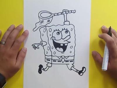 Como dibujar a Bob esponja paso a paso 4 - Bob esponja | How to draw Sponge bob 4 - Sponge bob