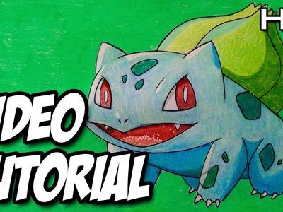 Cómo dibujar a Bulbasaur de Pokémon Paso a Paso - Tutorial Bulbasaur Pokémon N°02
