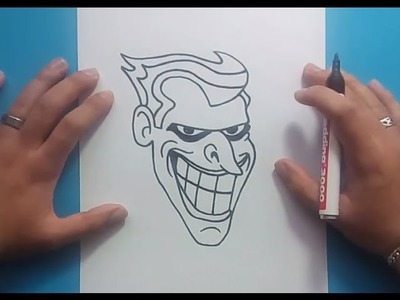 Como dibujar a el Joker paso a paso - Batman | How to draw the Joker - Batman
