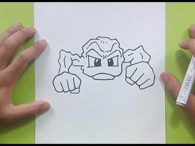 Como dibujar a Geodude paso a paso - Pokemon | How to draw Geodude - Pokemon