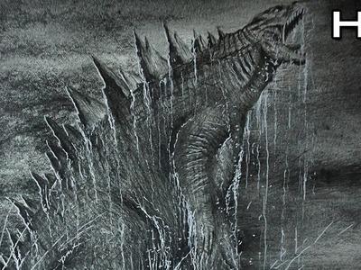 Cómo dibujar a Godzilla 2014 a lápiz Paso a Paso - TUTORIAL