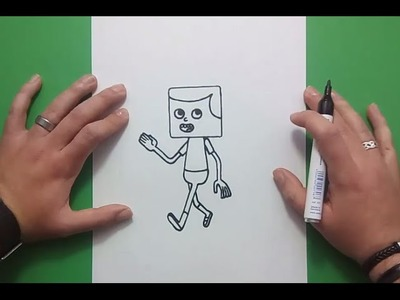 Como dibujar a Jeff paso a paso - Clarence | How to draw Jeff - Clarence